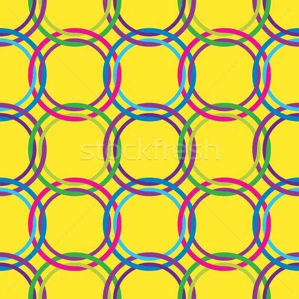 Körök végtelen minta retro színek absztrakt művészet Stock fotó © robertosch