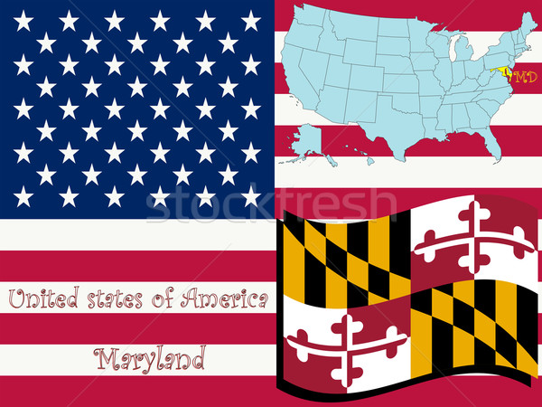 maryland state illustration Stock photo © robertosch