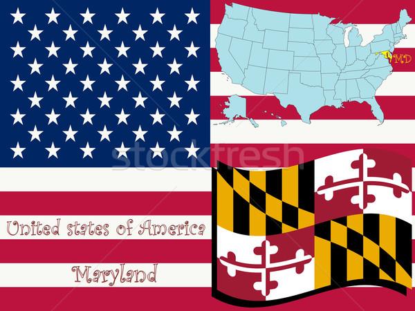 Maryland illusztráció absztrakt vektor művészet térkép Stock fotó © robertosch