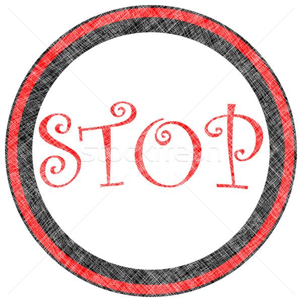 stop stamp Stock photo © robertosch
