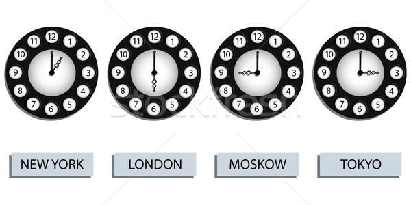 time zone clocks Stock photo © robertosch