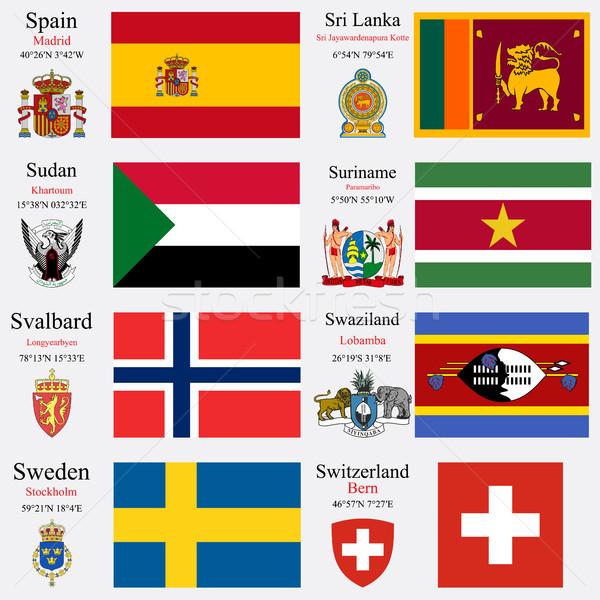world flags and capitals set 23 Stock photo © robertosch