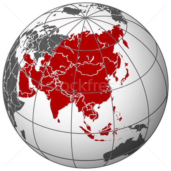 Ázsia Föld absztrakt vektor művészet illusztráció Stock fotó © robertosch