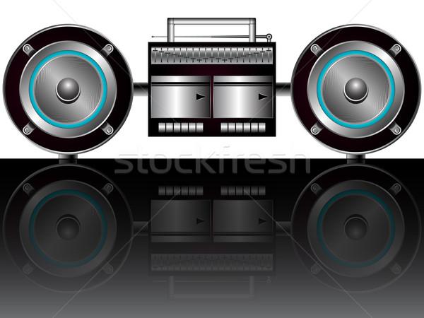 modern radiocassette player Stock photo © robertosch