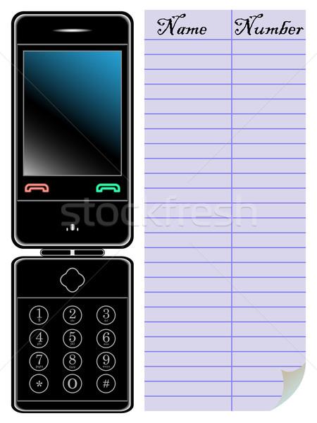 Telefono agenda bianco abstract vettore arte Foto d'archivio © robertosch