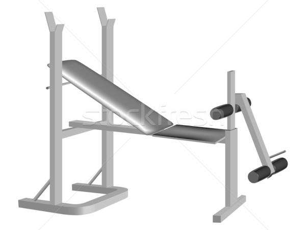 Gewichtheffen uitrusting witte abstract vector kunst Stockfoto © robertosch