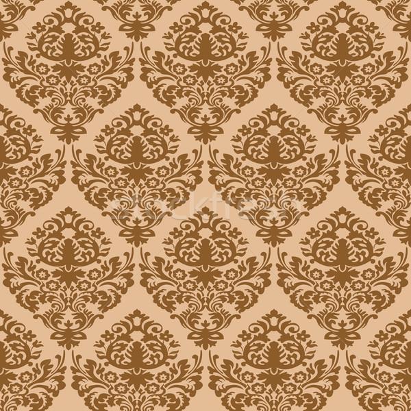 Damasco marrón sin costura textura resumen patrón Foto stock © robertosch