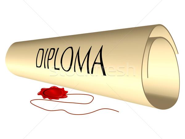 Diploma balmumu mühürlemek beyaz soyut vektör Stok fotoğraf © robertosch