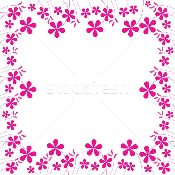 Roze bloemen loof ruimte tekst vector Stockfoto © robertosch
