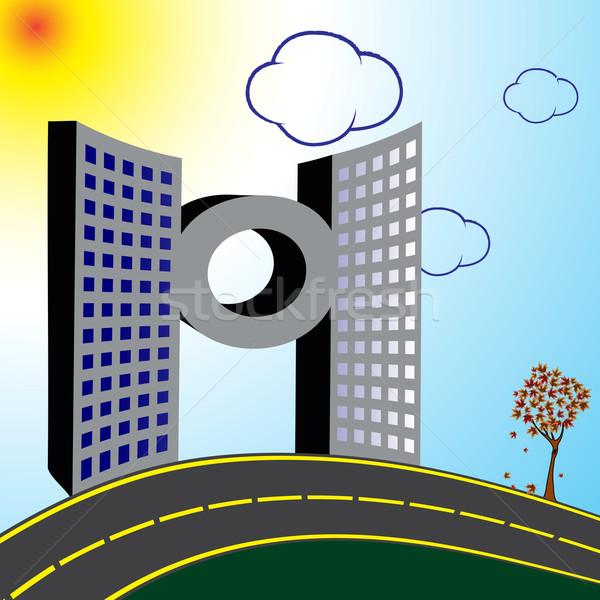 современное здание дороги аннотация вектора искусства иллюстрация Сток-фото © robertosch