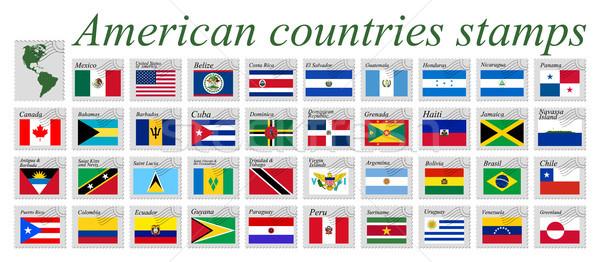 американский марок белый аннотация вектора Сток-фото © robertosch