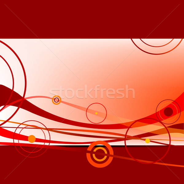 red waves and circles 2 Stock photo © robertosch