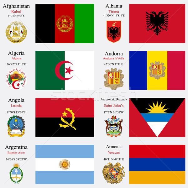 world flags and capitals set 1 Stock photo © robertosch