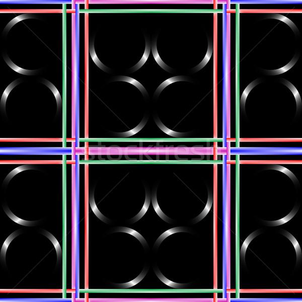 черный аннотация искусства бесшовный волна ретро Сток-фото © robertosch