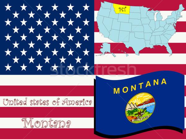 Montana illusztráció absztrakt vektor művészet térkép Stock fotó © robertosch