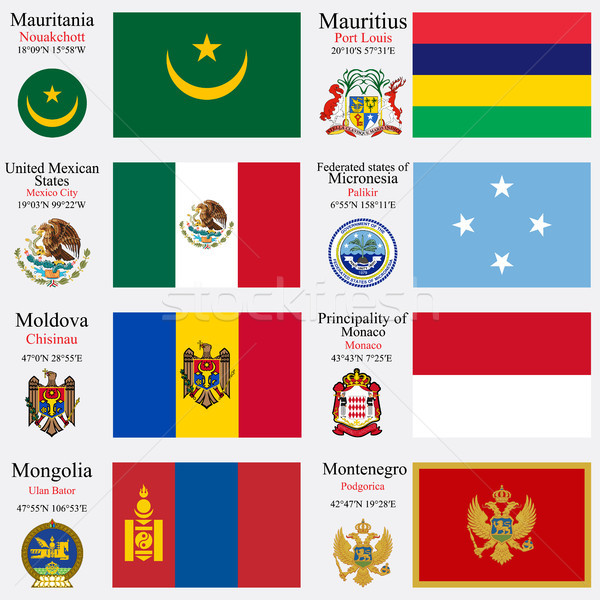 world flags and capitals set 15 Stock photo © robertosch