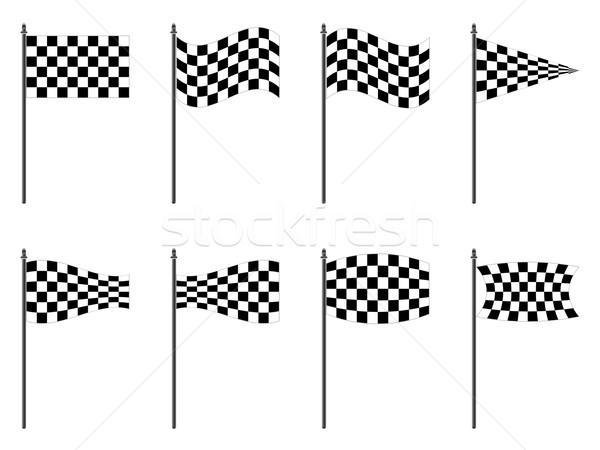 Banderas colección blanco resumen vector Foto stock © robertosch
