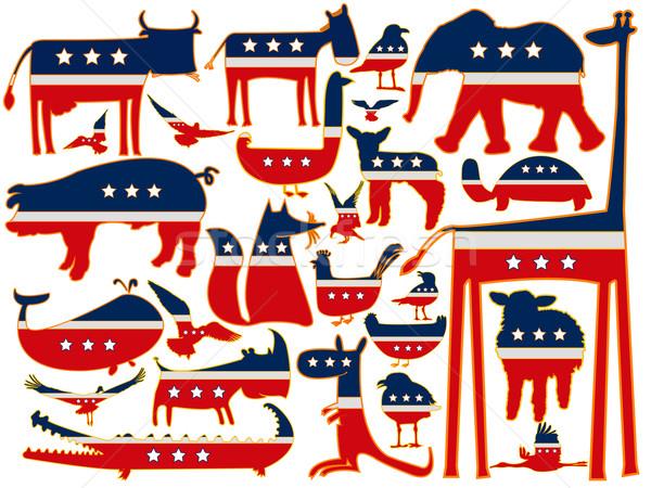 united states stylized animals Stock photo © robertosch
