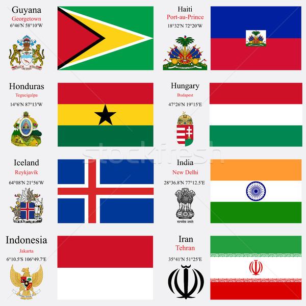 world flags and capitals set 10 Stock photo © robertosch