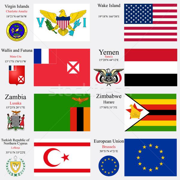 world flags and capitals set 27 Stock photo © robertosch