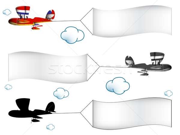 cartoon airplanes with banners Stock photo © robertosch