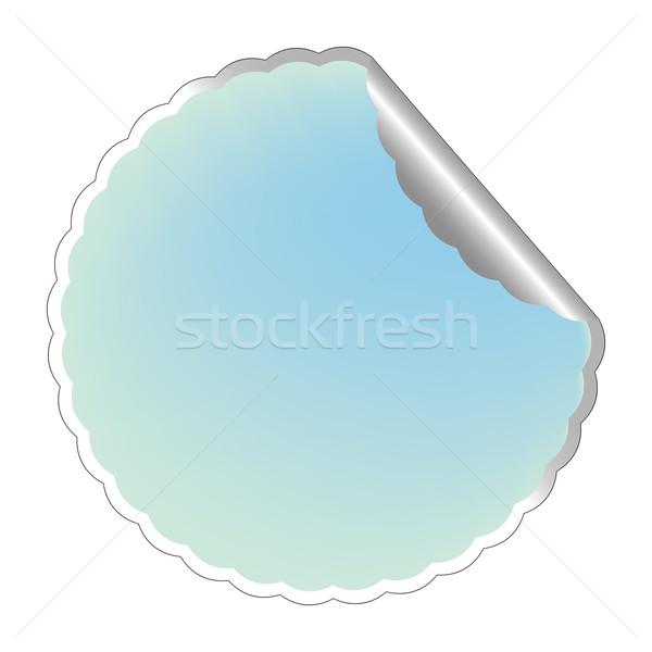 flowerish blue label 3 Stock photo © robertosch