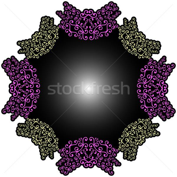 Foto stock: Renda · branco · abstrato · vetor · arte