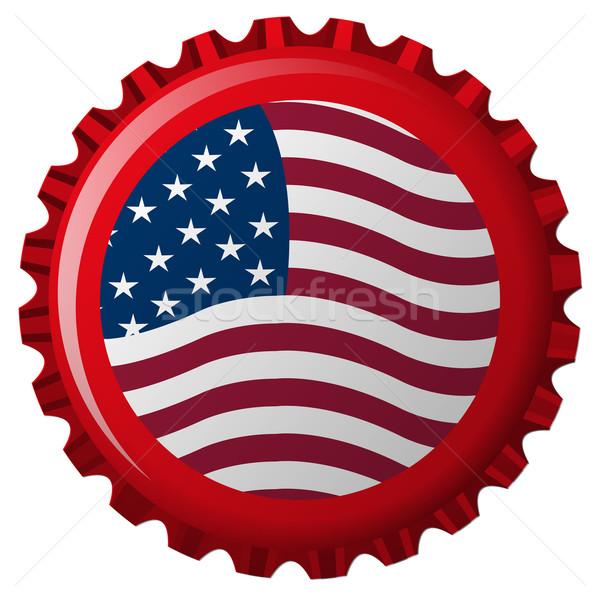 united states stylized flag on bottle cap Stock photo © robertosch