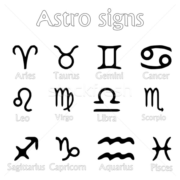 astro signs isolated on white Stock photo © robertosch