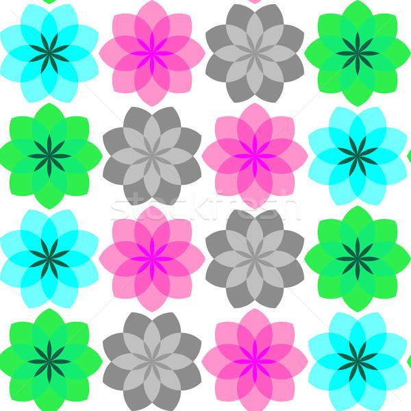 Színes virágok végtelen minta vektor művészet illusztráció Stock fotó © robertosch