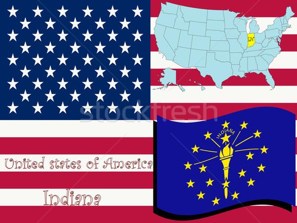Indiana ilustração abstrato vetor arte EUA Foto stock © robertosch