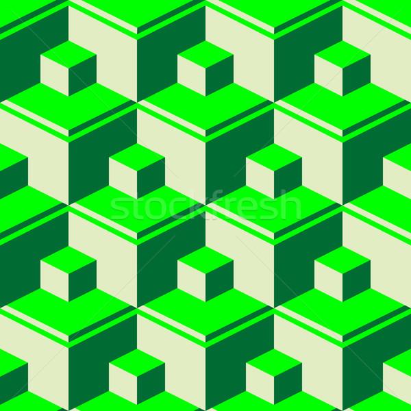 green abstract cubes Stock photo © robertosch