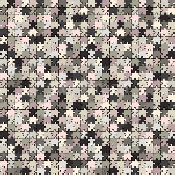 Stockfoto: Puzzel · grijs · textuur · abstract · vector