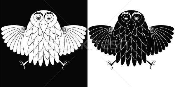 stylized owl cartoon Stock photo © robertosch