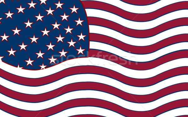 united states stylized flag Stock photo © robertosch