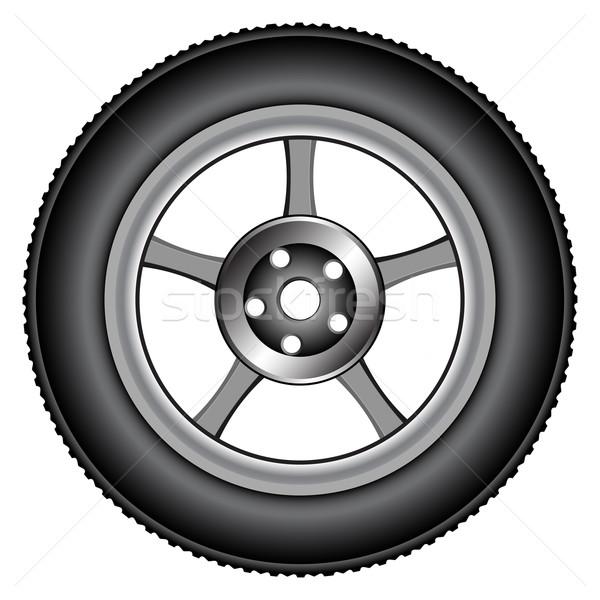 Aleación rueda neumáticos blanco resumen vector Foto stock © robertosch