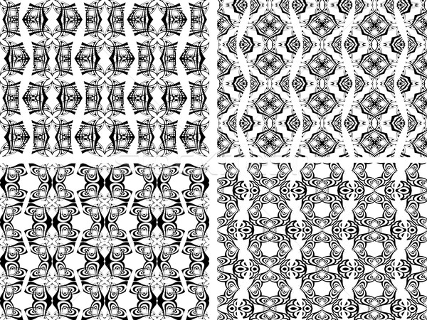 Czarno białe streszczenie tekstury wektora sztuki Zdjęcia stock © robertosch