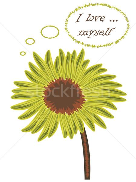 Miłości kwiat myślenia streszczenie wektora sztuki Zdjęcia stock © robertosch