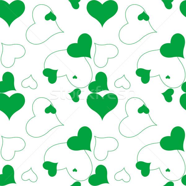 сердце зеленый шаблон вектора искусства иллюстрация Сток-фото © robertosch
