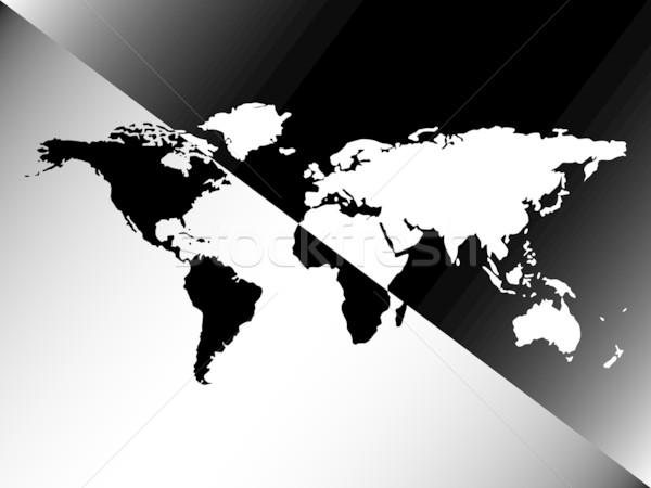 Grafikus világtérkép terv absztrakt vektor művészet Stock fotó © robertosch