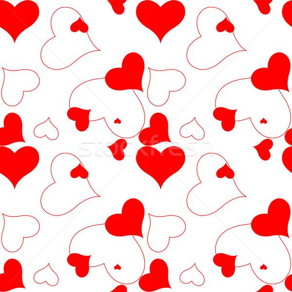 сердце шаблон вектора искусства иллюстрация аннотация Сток-фото © robertosch