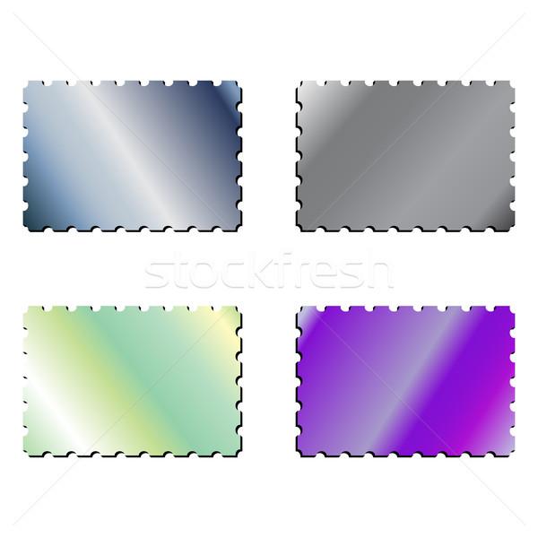 metallic postage stamps Stock photo © robertosch