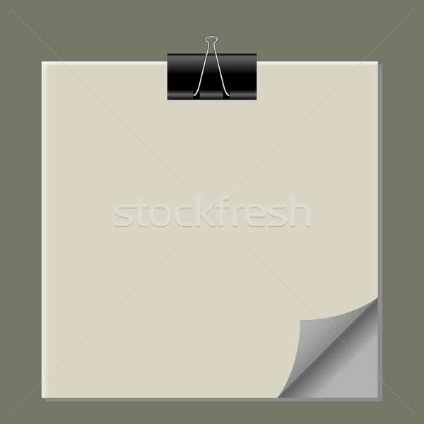 Papieru Uwaga streszczenie wektora sztuki Zdjęcia stock © robertosch