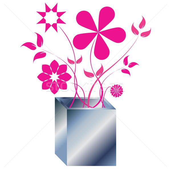ピンク 花 アレンジメント 抽象的な 芸術 実例 ストックフォト © robertosch