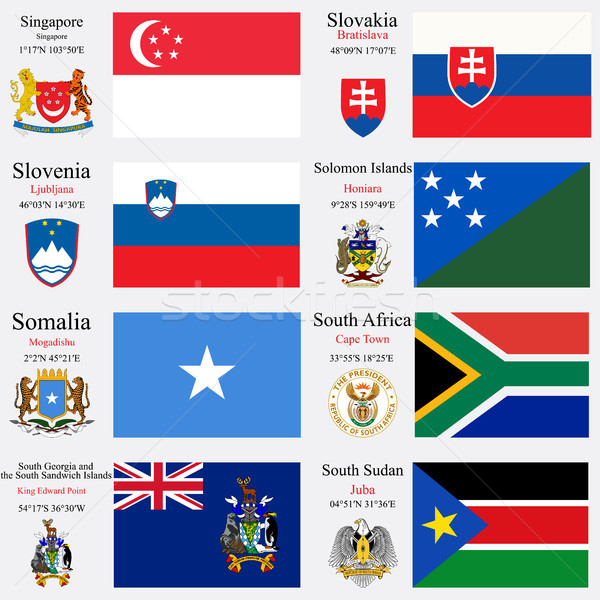 world flags and capitals set 22 Stock photo © robertosch