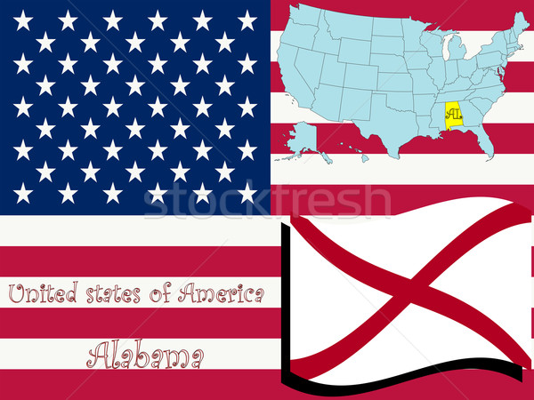 Alabama örnek soyut vektör sanat harita Stok fotoğraf © robertosch