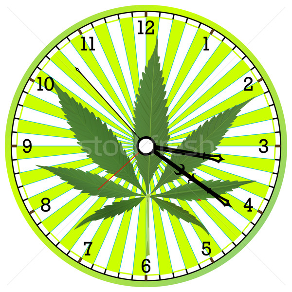 cannabis clock Stock photo © robertosch