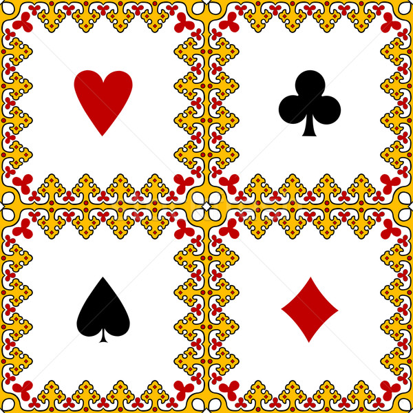 Spelen kaart symbolen frame abstract vector Stockfoto © robertosch