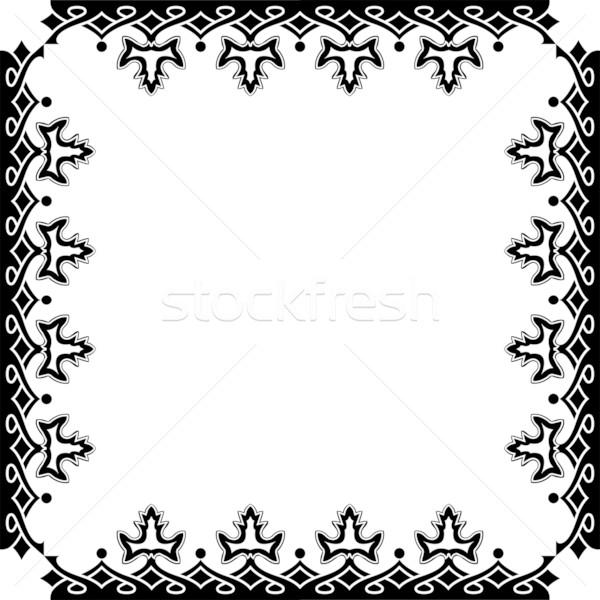 Frame witte abstract vector kunst illustratie Stockfoto © robertosch
