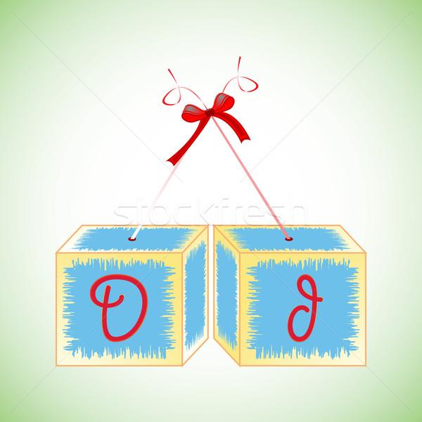 Alfabet abstract kunst illustratie onderwijs Stockfoto © robertosch